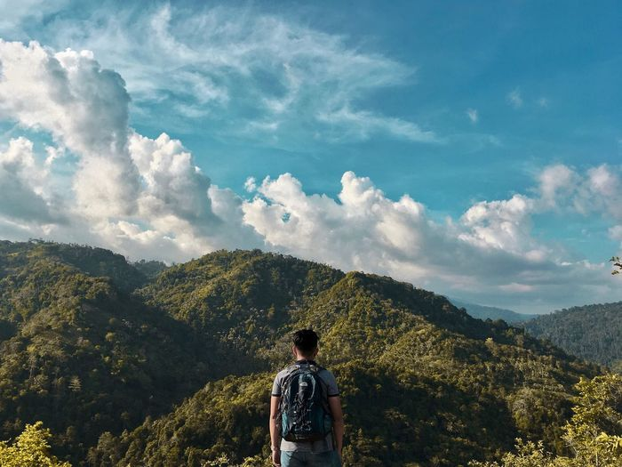 Best view from the hardest climb. @apple #iPhoneSE #Lantawan #MobilePhotography #Mountain #High #Hike #Zamboanga #LightroomCC #Snapseed #Vacation #Free #shotoniphone Real People Leisure Activity Cloud - Sky Sky Lifestyles Mountain One Person Standing Tree Rear View Scenics - Nature Tranquility Tranquil Scene Beauty In Nature Plant Day Nature Sunlight Growth Mountain Range