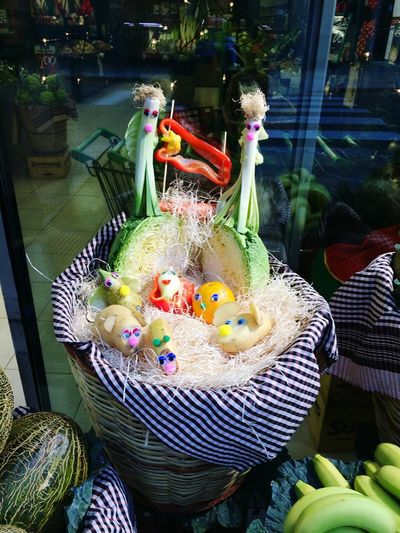 Fruta Belen Decoracion Nacimiento Water High Angle View Bird Multi Colored No People Outdoors Day