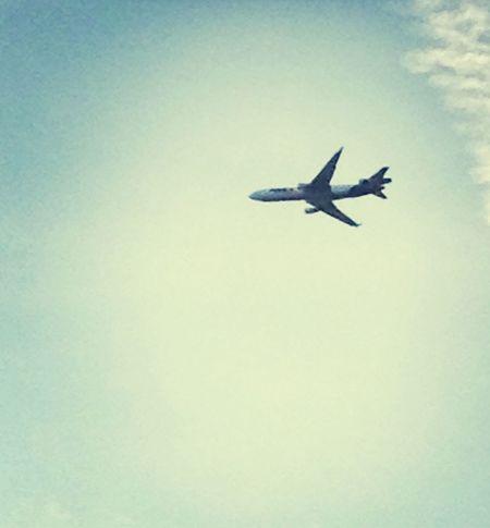 Look Up And Thrive Newyork Airplaine