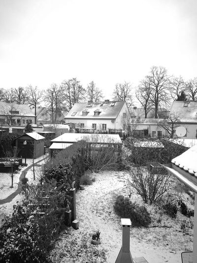 Outdoors Tree Sky Day Built Structure Architecture Building Exterior Nature No People Winter Window Wintertime Snow Snow ❄ Blackandwhite Black And White Black & White Cold Winter ❄⛄