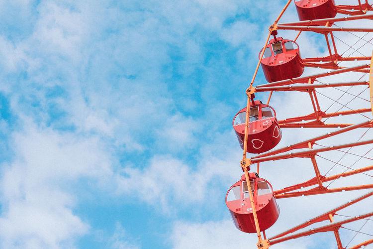 Amusement Park Amusement Park Ride Arts Culture And Entertainment Cloud - Sky Day Ferris Wheel Low Angle View Nature Nautical Vessel No People Outdoors Red Sky
