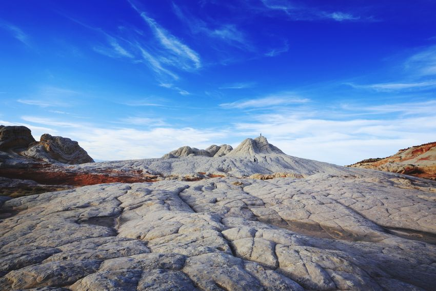 Lost In The Landscape Enjoy The Moment Arizona Scenics Landscape Mountain Beauty In Nature Vermilion Cliffs National Monument White Pocket, Arizona One Person Rock - Object Travel Destinations FAR AWAY People Nature Geology Person Outdoors