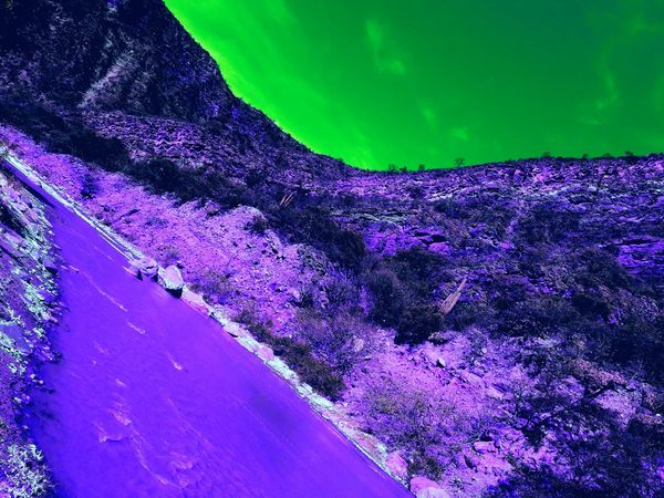 Cafayate, Salta, Argentina! Colores Norteños Monuments Norte Argentino Beauty In Nature Curve Landscape Mountain Nature No People Outdoors Purple Quebrada De Las Conchas River Road Salta, Argentina Sky Sun Light Tranquil Scene Tranquility Water Winding Road