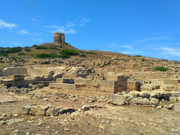Tharros Archaeological Site Of Tharros Tharros Sardegna Summer Ancient Civilization Landscape History Archaeology Sardegna Horizon Over Water Sardinia Sky Sea Water Beach Day Nature Tranquility Outdoors Beauty In Nature Travel Destinations Scenics Old Ruin Archaeology Ancient