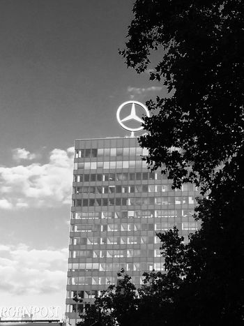 Architecture Berlin Photography Black White Photography Built Structure C Day Europacenter Growth Low Angle View Moon Nature No People Outdoors Sky Tree U Urban