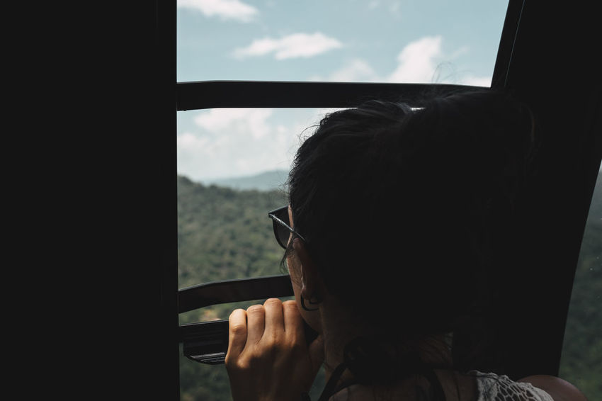 Adventure Girl Langkawi Malaysia One Person One Woman Peeking People Real People Sky Sunglasses Travel Photography View Window An Eye For Travel