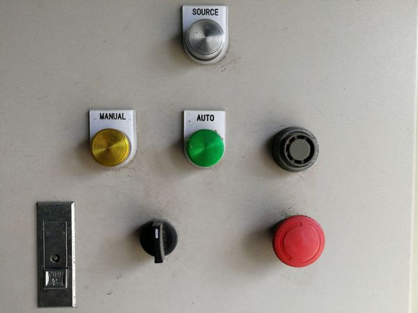 Western Script Text Communication Push Button Metal Close-up Indoors  No People Technology Day Control Panel Occupational Safety And Health