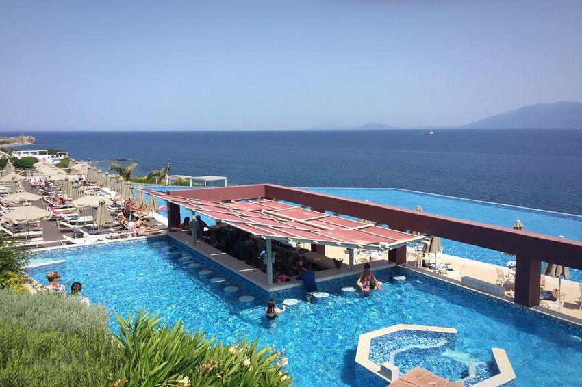 Endless Pool Bar Ocean People Sundeck Kos Greece