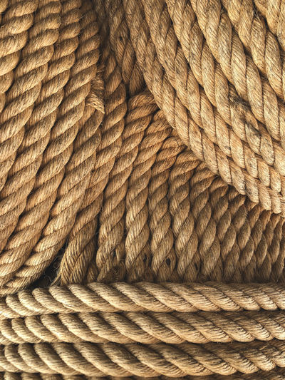 Rope Art And Craft Backgrounds Brown Close-up Day Full Frame Indoors  No People Pattern Still Life Textile Textured  Wicker