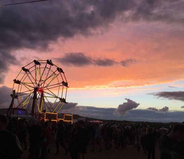 Ferris Wheel Sunset Sky Dusk Cloud Dramatic Sky Fairground Enjoyment Outdoors Festival Ynot Paint The Town Yellow