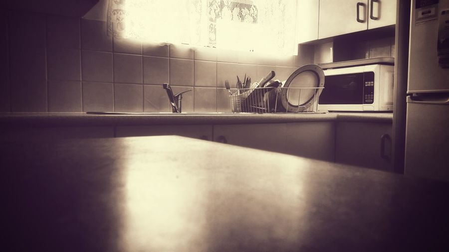 Kitchen' Black And White Light And Shadow Art Still Life