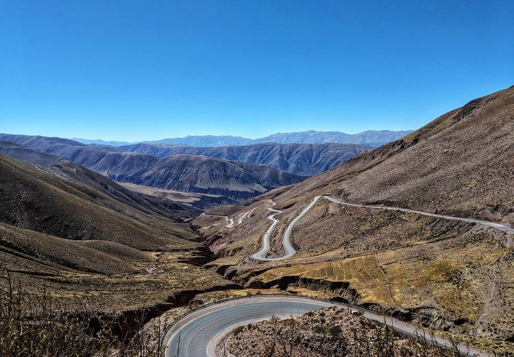 Let me ride these roads, winding roads of south america