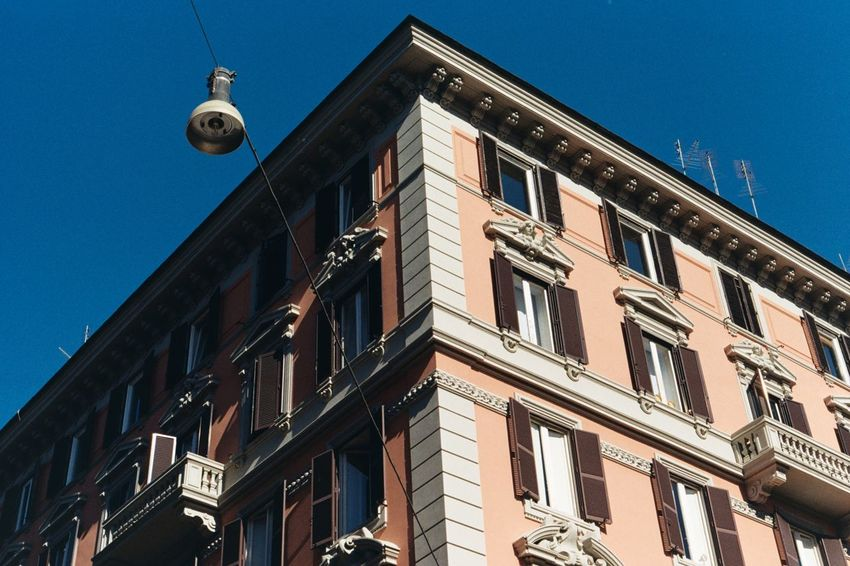 Moving Around Rome Rome Architecture Balcony Building Exterior Built Structure Italy Low Angle View No People Outdoors Residential Building Window