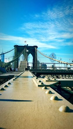 Bridge - Man Made Structure Built Structure Vacations Architecture Day Suspension Bridge Brooklyn Bridge / New York Low Angle View Brooklyn Ny New York ❤ Architecture Outdoors Summer2017