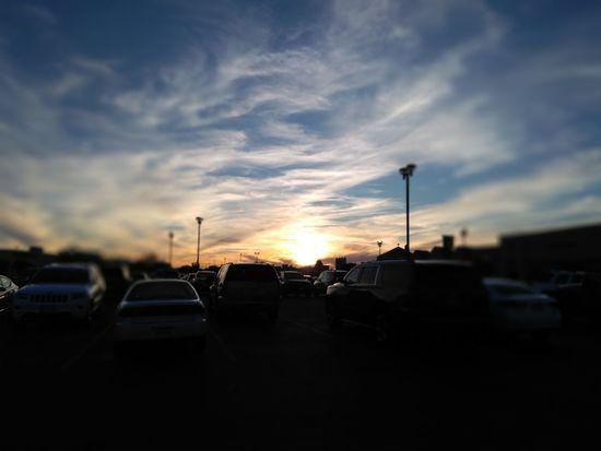 Sunset Sky Cloud Car Cloud - Sky Sunset Transportation Sky Silhouette Outdoors