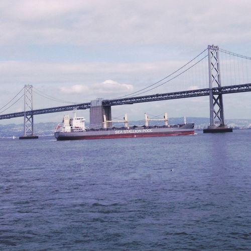 Enjoying The Sights The Bay Bridge Ferry Hipstamatic
