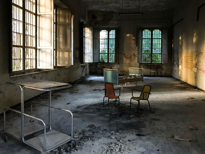 Chair in abandoned room