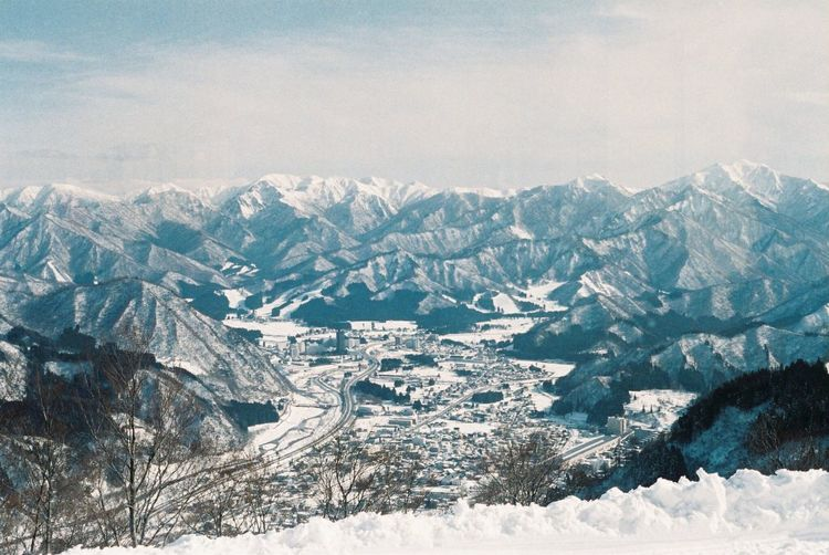View from the secret point Fuji Natura 1600 Olympus Om10 Film Photography Snow Mountain Winter Cold Temperature Beauty In Nature Nature No People Wilderness Area Sky
