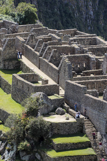 Historic city of Machu Picchu. Aguas Calientes - Peru Green Color Machu Picchu Nature Peru Travel Photography Trekking America Ancient Ancient Civilization Architecture Built Structure Color Day History Inca Ruins Incidental People Nature Outdoors Photography Sky South America Steps And Staircases Stone Material The Past Travel Destinations