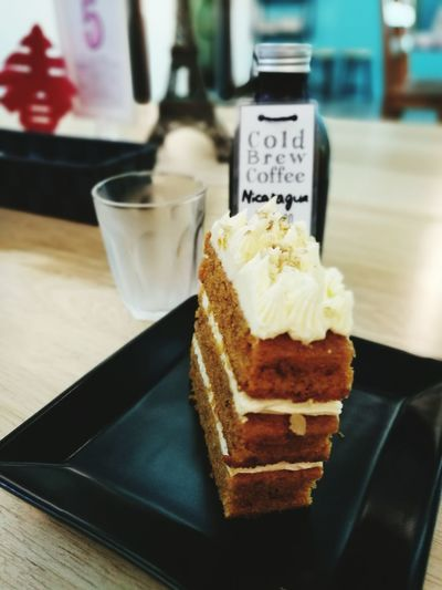 Coffee And Dessert Cold Brew Cold Brew Of The Day Nicaragua Carrot Cake Slice There Is Always Room For Dessert Sweettooth
