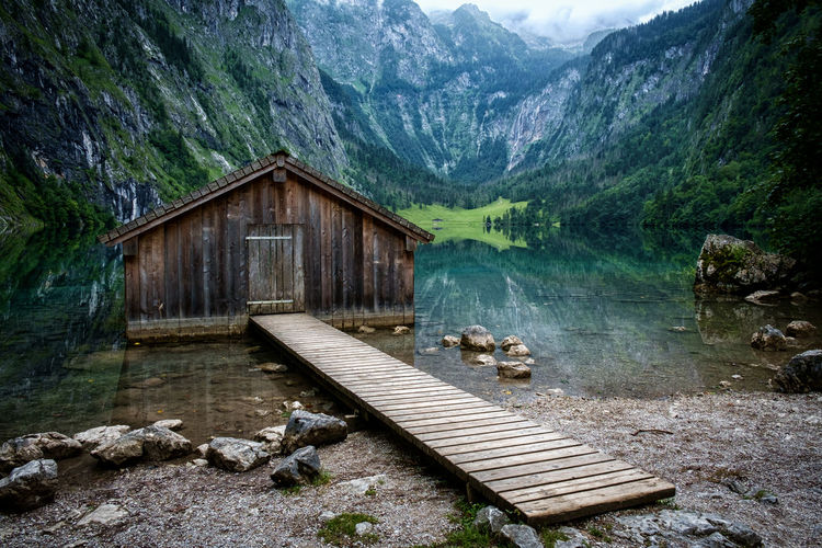 Alpen Bavaria Königssee Architecture Bavarian Alps Beauty In Nature Built Structure Chalet Day Environment Hut Idyllic Lake Landscape Mountain Mountain Range Nature No People Non-urban Scene Outdoors Scenics - Nature Tranquil Scene Tranquility Water Wood - Material