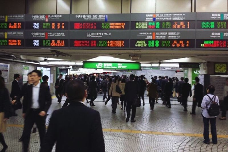 """God made time, but man made haste."" -Irish Proverb Ultimate Japan People Rush Hour Train Station Bustling Rushing Human Traffic Rush Hour Traffic Many People Suits  Business Attire Heading To Work On The Way - Traveling in Tokyo,Japan"
