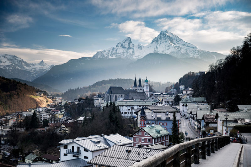 Architecture Bavaria Bayern Berchtesgaden Citiyview Germany Landscape Mountain Nationalpark No People Outdoors Snow Street Travel Wanderlust Watzmann