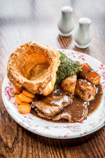 Meal Sunday Roast Broccoli English Food Food Food And Drink Foodphotography Freshness Garnish Gourmet Gravy Healthy Eating Indoors  Meat No People Organic Plate Ready-to-eat Roast Roast Beef Still Life Table Tabletop Wellbeing Yummy