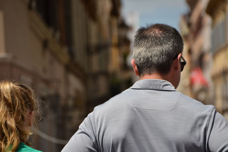 Rear View Only Men Adult One Man Only Adults Only People One Person Headshot Over The Shoulder View Outdoors City Back The Week On EyeEm Investing In Quality Of Life Breathing Space Moving Around Rome