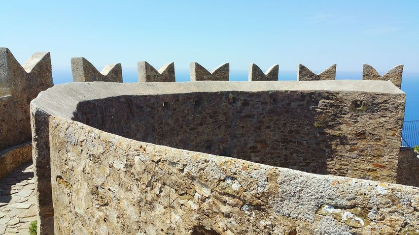 Outdoors Day No People Sunlight Architecture Sky Close-up Castle Sea Tower Battlements Battlement