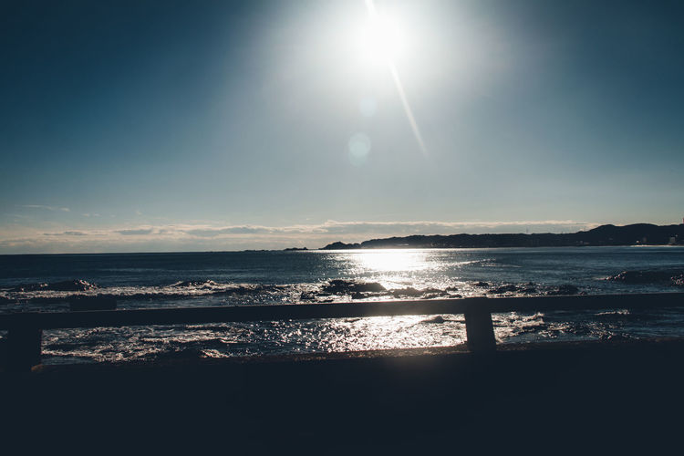 Seaside Sea Ocean Winter Nostalgia Fragility Nostalgic  Calm Relaxing Japan Tree Silence Landscape Daytime Holidays Nature Outdoors Climate Horizon Over Water Abstract Sky Sun Water Sunlight Scenics - Nature Tranquility Tranquil Scene Beauty In Nature No People Land Reflection Lens Flare Day Idyllic Sunbeam Silhouette Bright