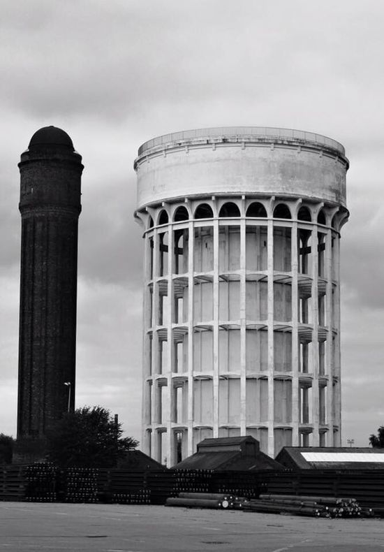 Salt and Pepper Architecture Built Structure No People Outdoors Water Tower - Storage Tank Blackandwhite Photography Goole