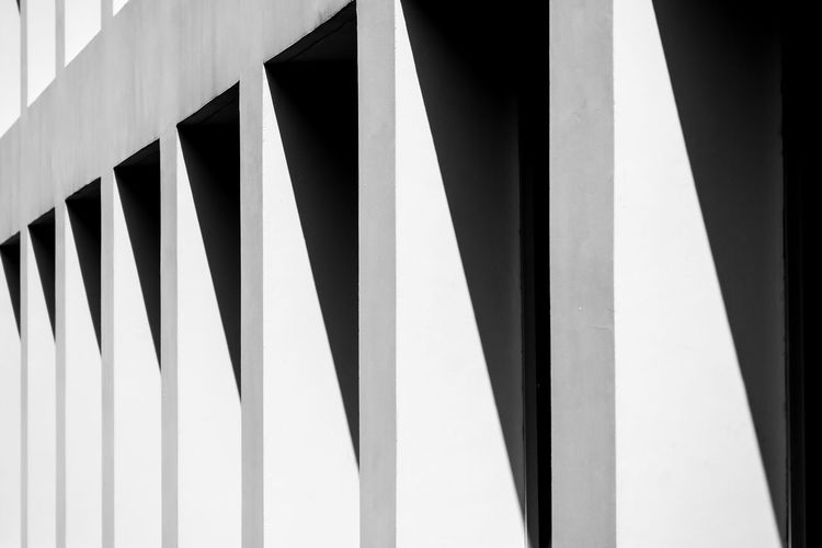 Pattern Built Structure Architecture No People Design Day Repetition Full Frame Building Exterior Backgrounds Striped Low Angle View Shape Close-up Wall - Building Feature Outdoors Nature Modern Abstract Metal Parallel