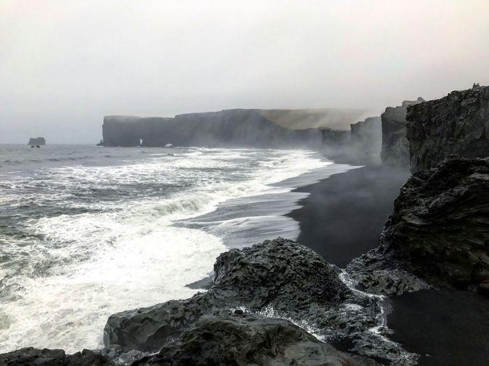 Dark sea. Sea
