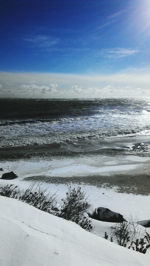 the beach is awesome even in the winter Beachphotography Snow Nature_collection EyeEm New Jersey