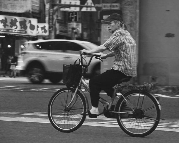 EyeEm EyeEm Best Shots Transportation Mode Of Transportation Land Vehicle Bicycle Street Real People City Men Outdoors Architecture Full Length One Person Day Road Building Exterior Ride Built Structure Lifestyles Occupation Riding