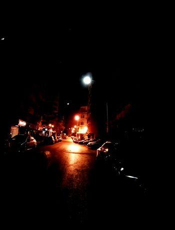 Light And Shadow Streetlight Night On The Road Walking Around