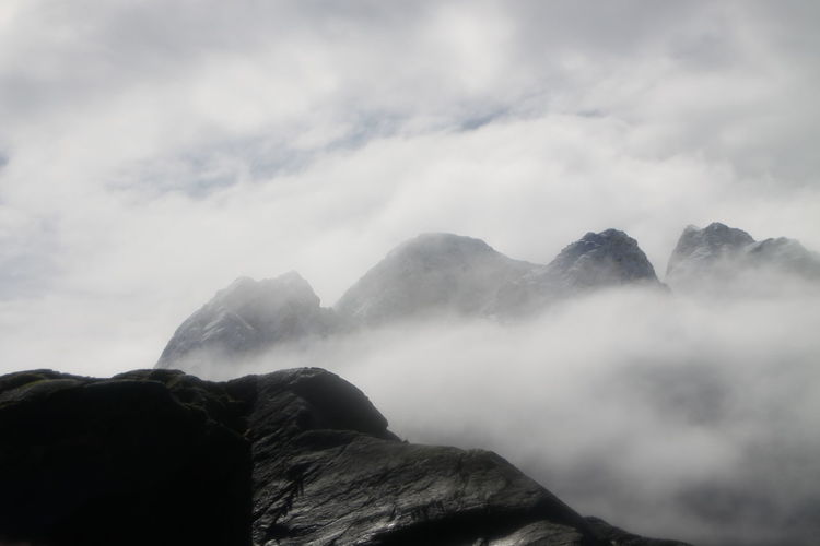 Beauty In Nature Cloud - Sky Day Fog Mountain Nature No People Outdoors Scenics Sky Tranquil Scene Tranquility Breathing Space