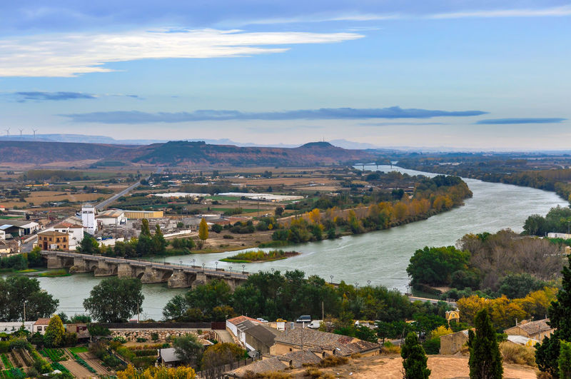 Panorama of Tudela, Spain Tudela SPAIN SPAIN Landscape Outdoors Aerial View No People Landscape Tree Horizon Over Water Sky Cityscape Nature City Day