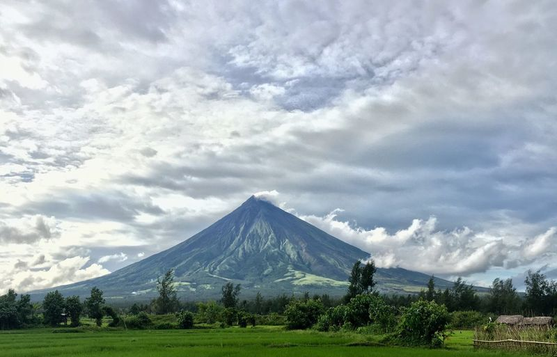 Perfect cone. Mountain Beauty In Nature Cloud - Sky Sky Landscape Nature Scenics EyeEmNewHere. Philippines Bicol, Philippines Mayon Volcano Philippines The Week On EyeEm