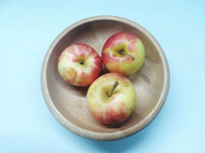 Apple in bowl.