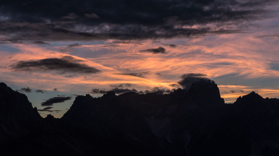 Mountain Drama Mountains Sky Dramatic Sky Drama Cloud - Sky Sunset Beauty In Nature Scenics - Nature Tranquility Silhouette Mountain Nature Idyllic Landscape Mountain Range Outdoors Rock Clouds