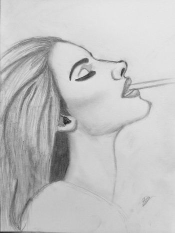 Lana Del Rey Drawing Black And White