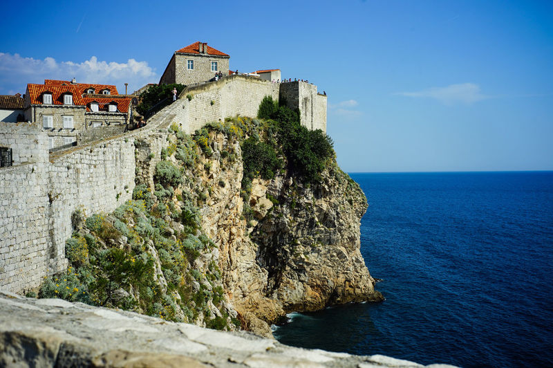 Old town of Dubrovnik, Croatia Architecture Built Structure History Building Exterior The Past Sky Sea Water Building Travel Destinations Nature Fort Day No People Horizon Over Water Solid Castle Travel Scenics - Nature Outdoors Stone Wall Game Of Thrones Old Town, Dubrovnik.