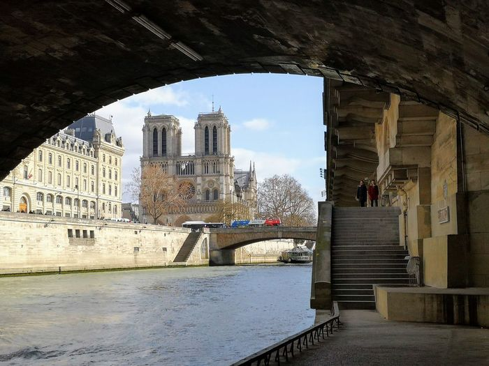 Walk Along The River Paris ❤ Notre Dame De Paris Cathedral City Cityscape Skyscraper Urban Skyline Sky Architecture Building Exterior Built Structure Arch Bridge Arch Bridge - Man Made Structure