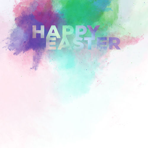 Happy Easter lettering on a watercolor background. Digital art Art ArtWork Background Celebrating Collage Colorful Design Digital Art Digitally Easter Greeting Card  Happy Easter Holiday Illustration Letter Lettering Multicolored Pascha Religious Holiday Seasonal Splash Spring Text Watercolor Watercolor Painting
