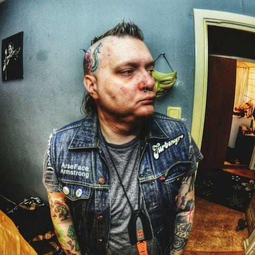 Sometimes I just put on my kutte and feel badass. Self Portrait Selfie Turbojugend