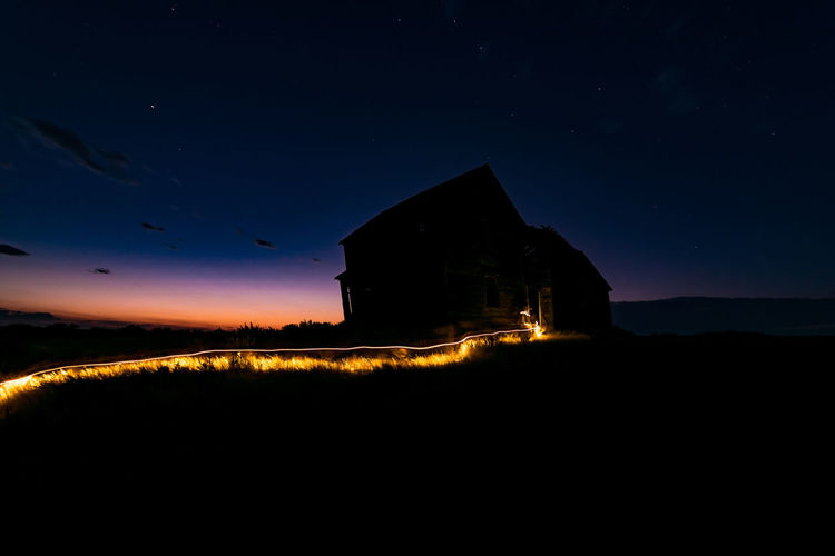 Big Dipper rising after sunset glow Abandoned House Abandoned Places Constellation Light Painting Sunset Silhouettes Sunset Glow Abandoned Abandoned Buildings Abandonedplaces Big Dipper Bigdipper Field Forgotten Places  Illuminated Lightpainting Lightpaintingphotography Night No People Outdoors Scenics Sky Star - Space Stars Sunset Tranquility