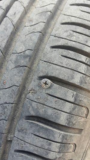 Flat Tire Screw Screwed