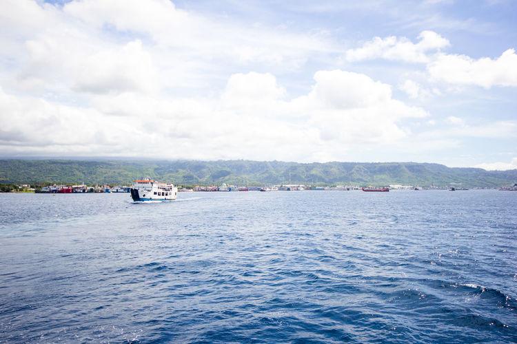 ship. Beautiful sea and sky. travel. Asian Asian  ASIA Beautiful Beautiful Nature Travel Sea Ship Sky